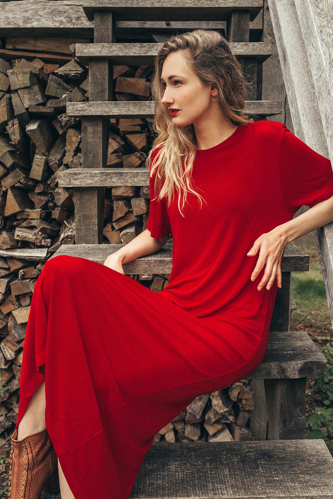 vintage red dress