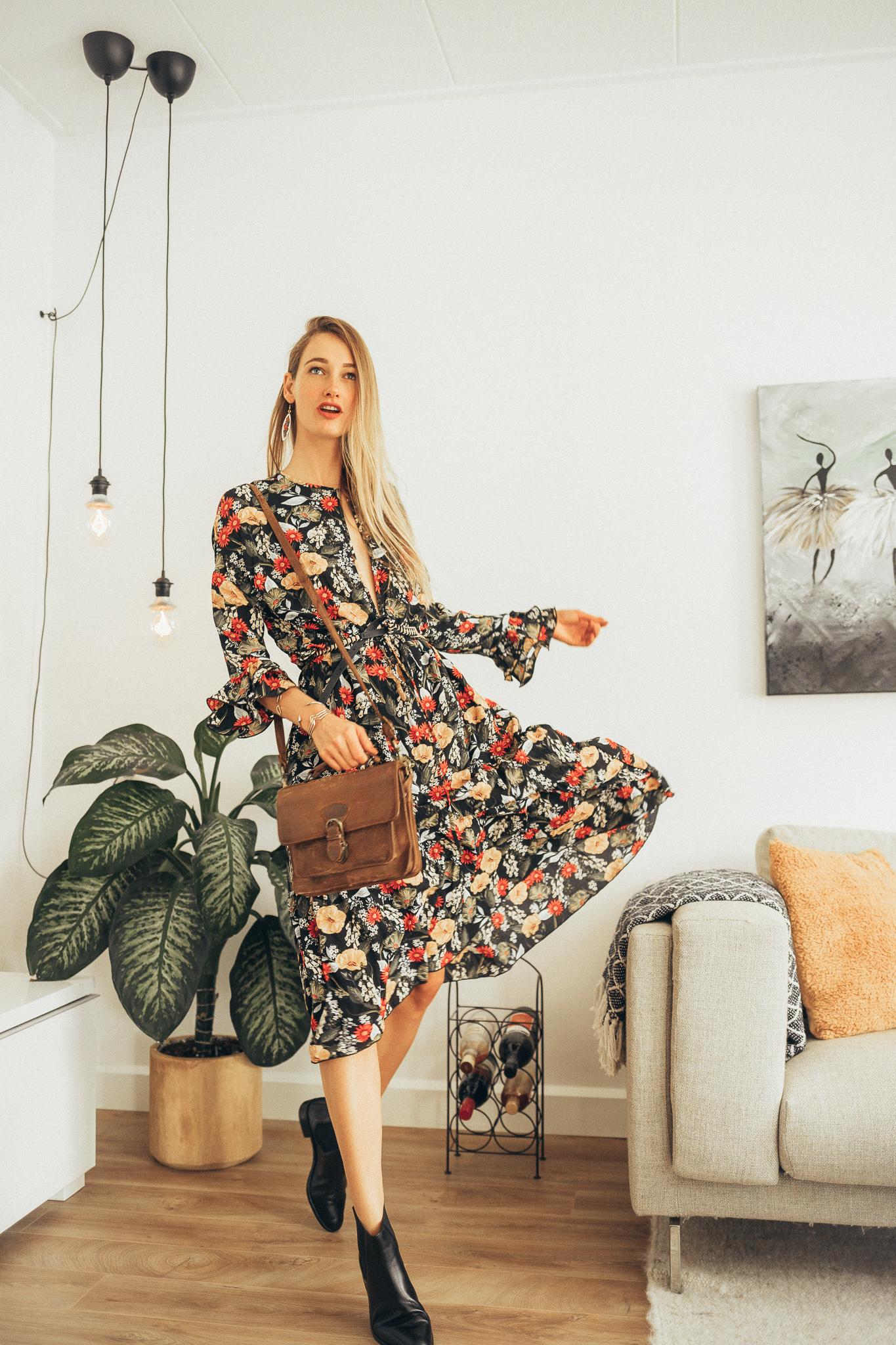 jurken met bloemen
