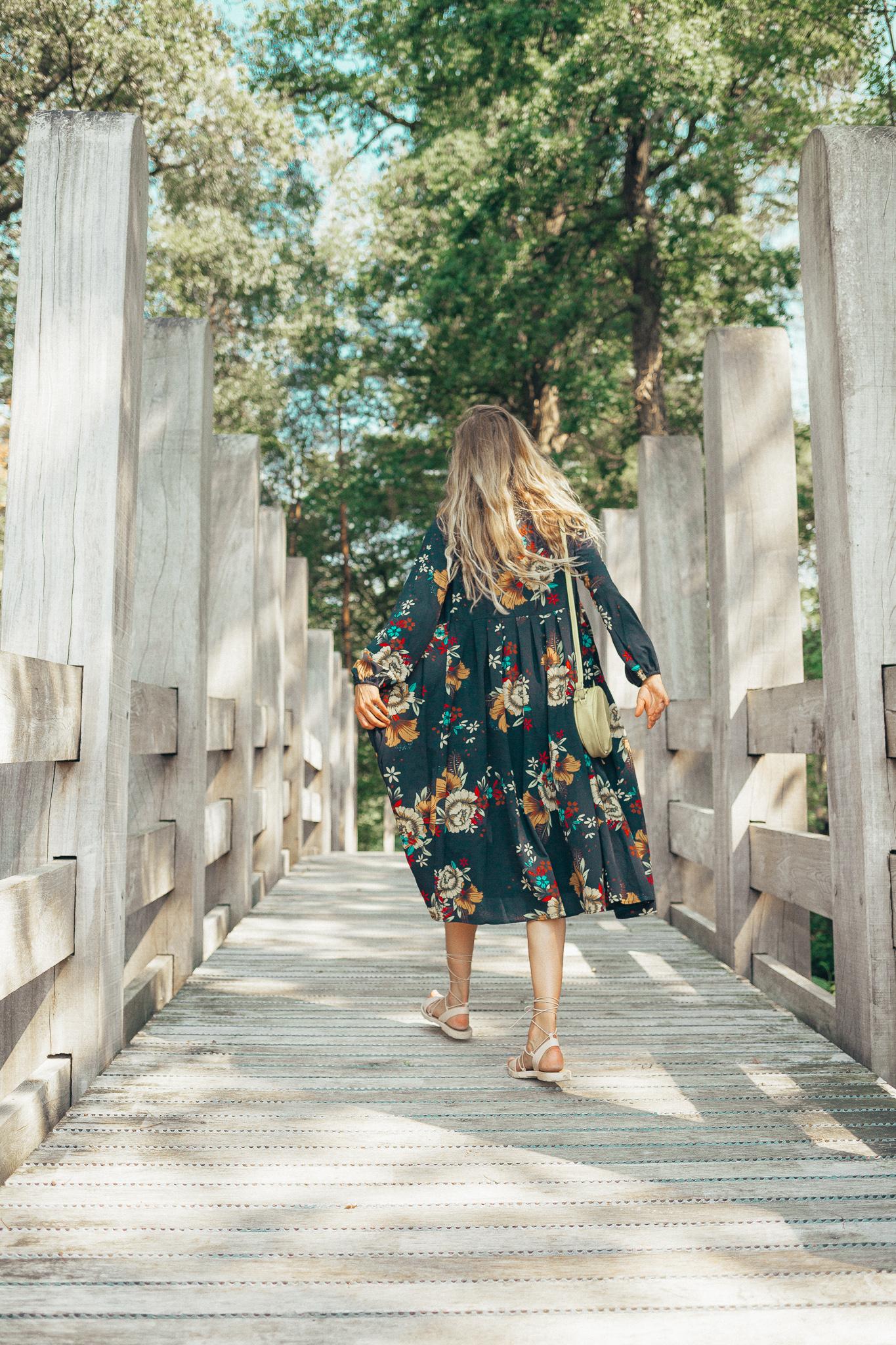 shein long flower kimono
