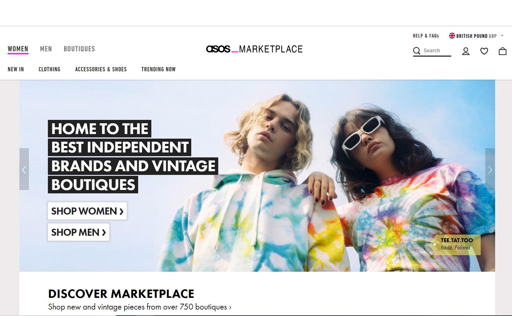 asos marketplace vintage kleding