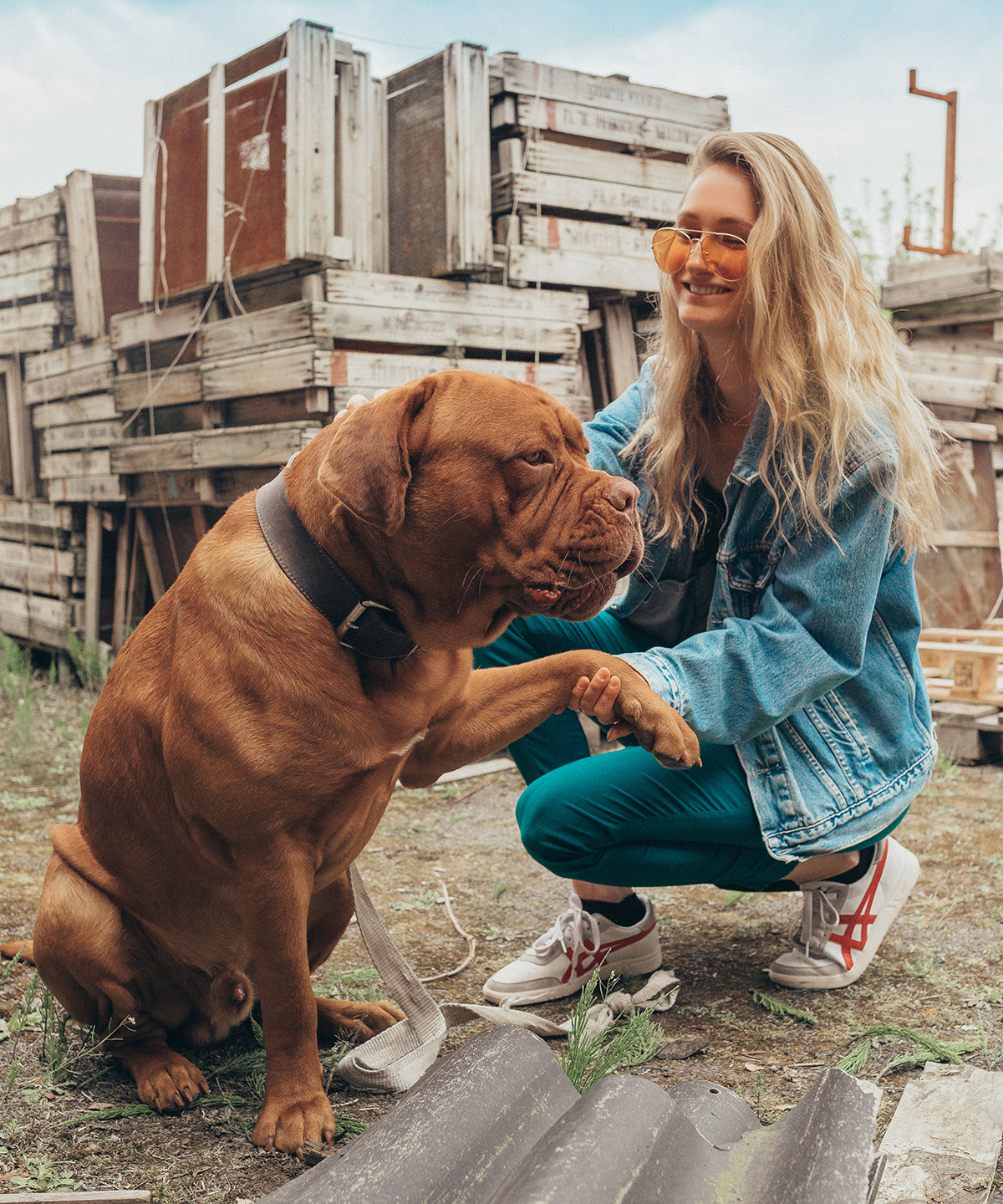 Influencer with dog