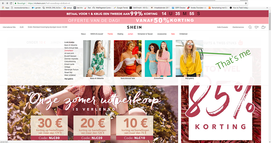 52ab3e2d7c Shein is an asian online shop and according to whois domain tools  registered since 1998. The first time I came across Shein, back then better known  as ...