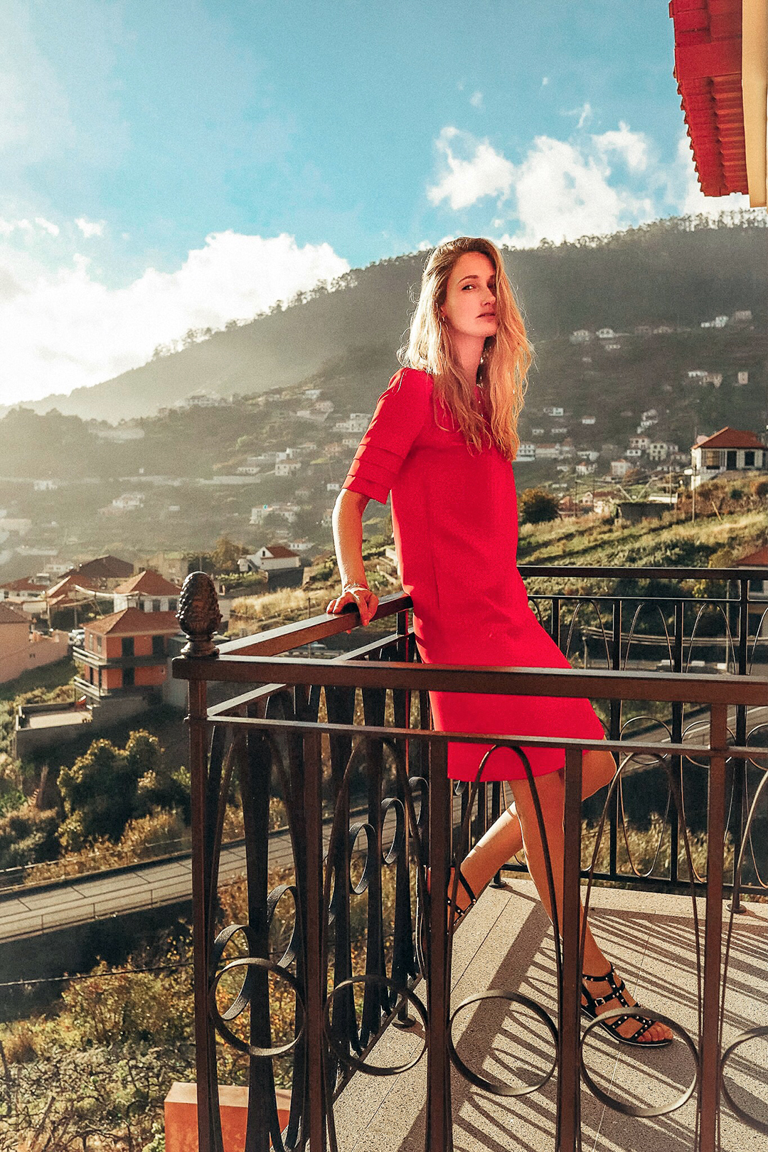 red dress influencer
